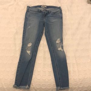 Copped hollister jeans